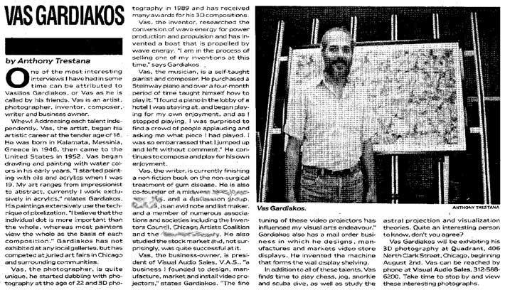 "1991 ""NightLine Chicago"" article by Anthony Trestana"